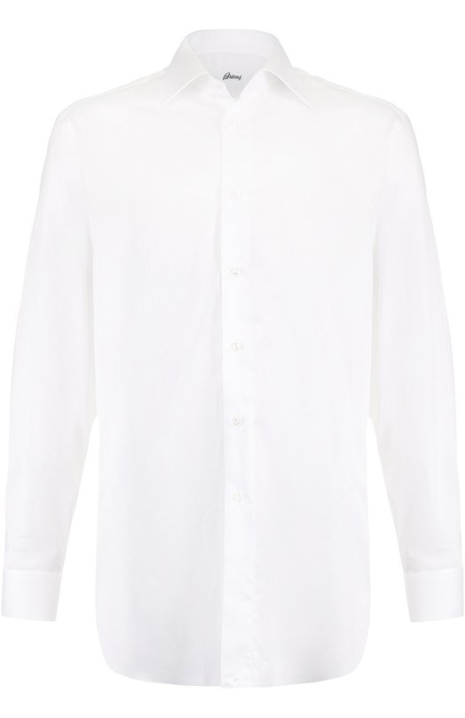 Купить Хлопковая сорочка с воротником кент Brioni, RCL4/06086, Италия, Белый, Хлопок: 100%;