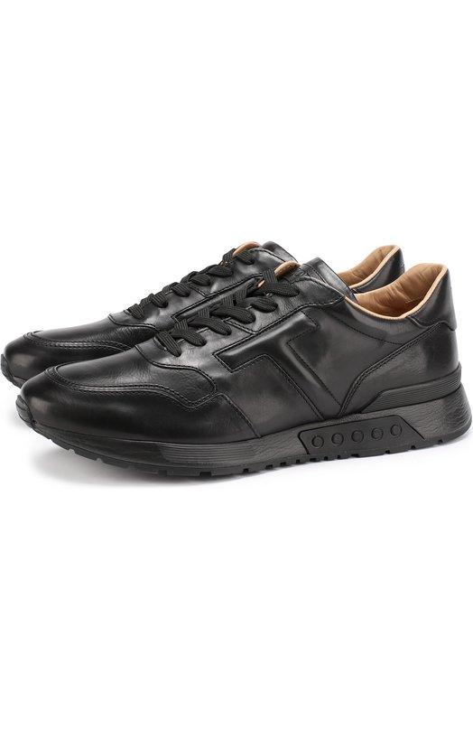 Купить Кожаные кроссовки на шнуровке Tod's Италия 5180981 XXM15A0U750DVRB999