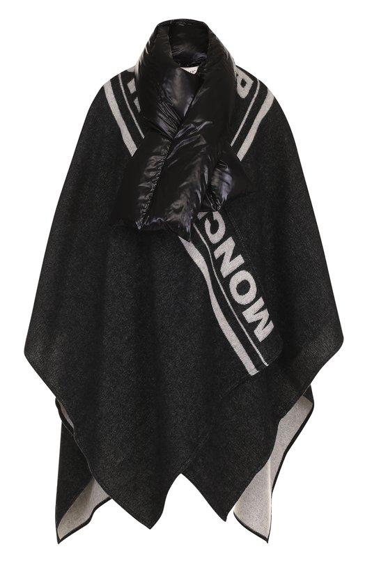 Вязаное пончо с шарфом Moncler
