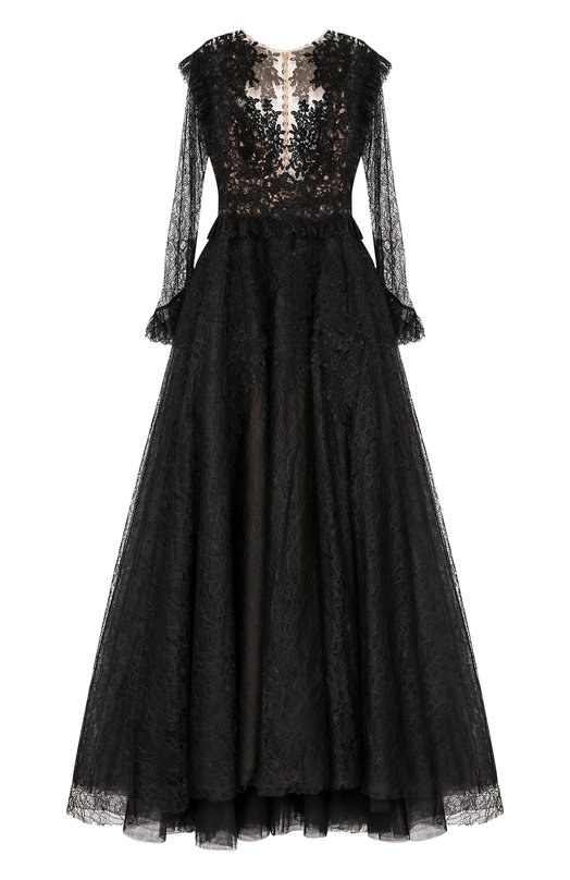 Купить Платье-макси с кружевной отделкой и вышивкой Zuhair Murad Ливан 5186873 RDPF17-006-DL