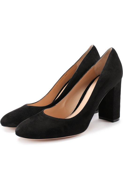 Купить Замшевые туфли Linda на устойчивом каблуке Gianvito Rossi Италия 5118764 G20766.85RIC.CAM