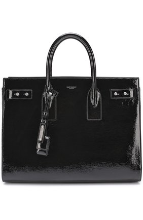 Сумка-тоут Sac de Jour medium Saint Laurent черная | Фото №1