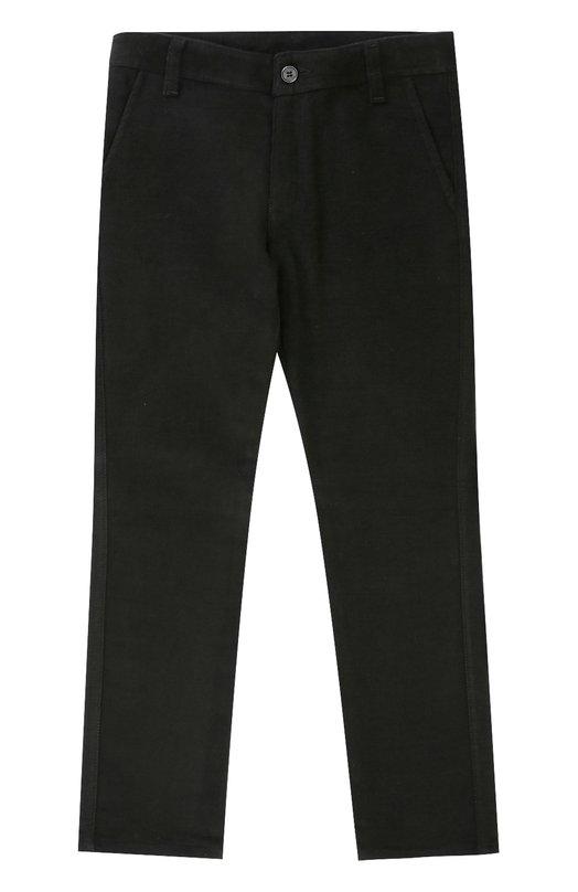 Купить N110/7930/7-12, Хлопковые брюки прямого кроя Dal Lago, Италия, Черный, Хлопок: 100%;, Мужской, Брюки