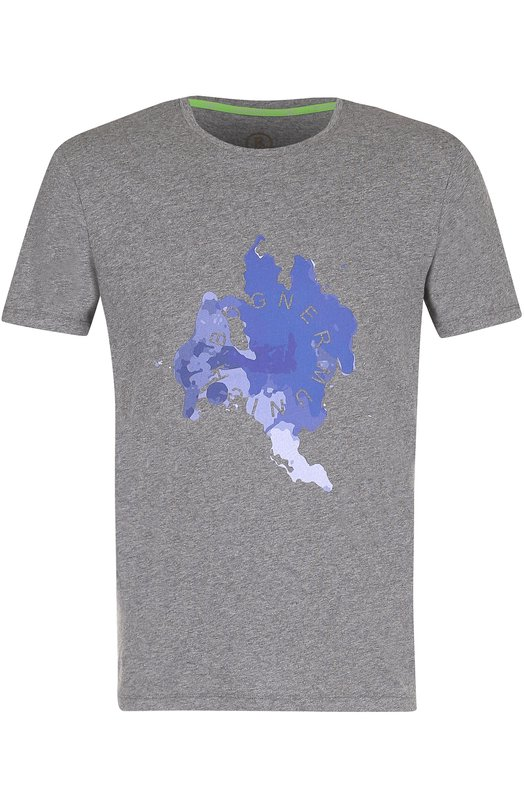 Хлопковая футболка с принтом Bogner, 5805MM03, Португалия, Серый, Хлопок: 100%;  - купить