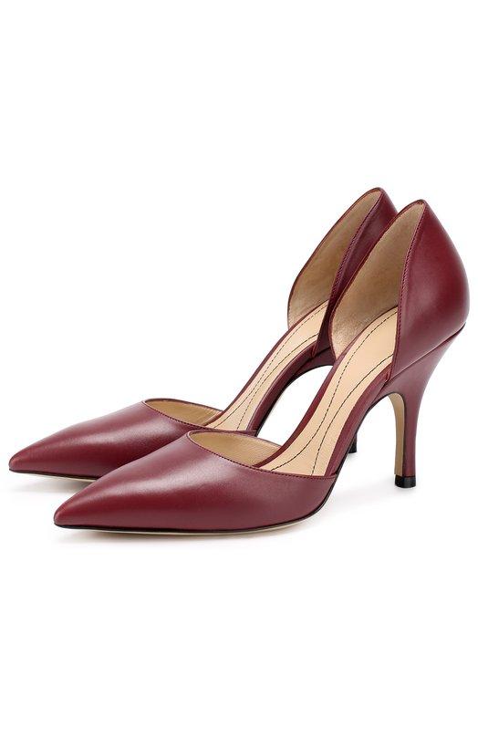 Кожаные туфли d'Orsay на шпильке Giorgio Armani