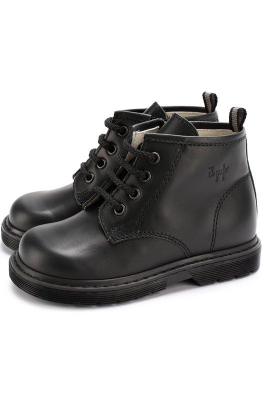 Кожаные ботинки на шнуровке с молниями Il Gufo