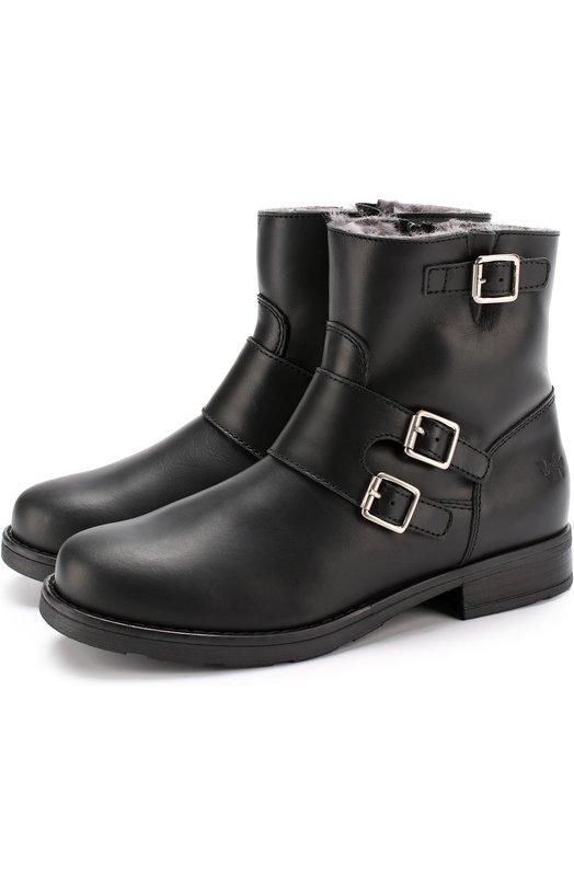 Кожаные ботинки с пряжками Il Gufo