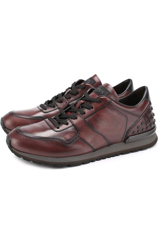 Купить Кожаные кроссовки на шнуровке Tod's Италия 5186512 XXM0XH0R011SCD2Z61