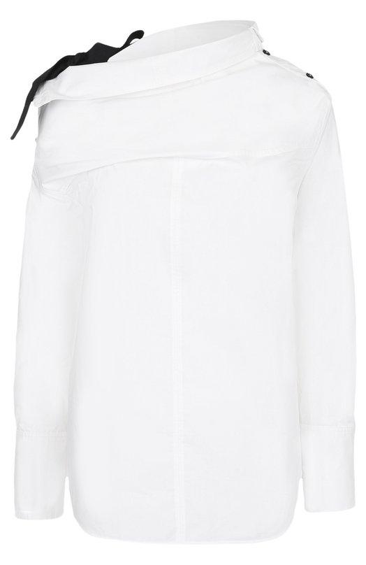 Купить Хлопковая блуза ассиметричного кроя Proenza Schouler, R173428-SC031, Китай, Белый, Хлопок: 100%;