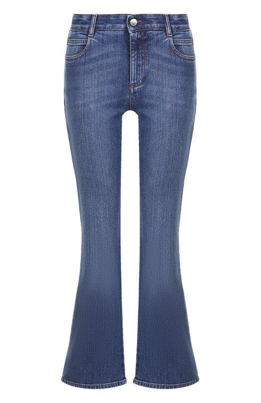 Купить Расклешенные джинсы с вышивкой Stella McCartney, 475508/SHL09/SLH09, Италия, Синий, Хлопок: 98%; Эластан: 2%;