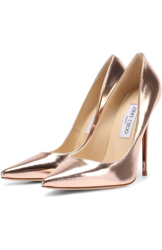 Купить Туфли Anouk из металлизированной кожи на шпильке Jimmy Choo, AN0UK/MLE, Италия, Золотой, Кожа натуральная: 100%; Стелька-кожа: 100%; Подошва-кожа: 100%;