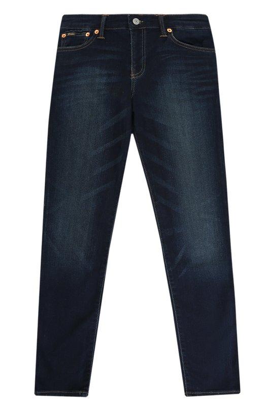 Купить Джинсы прямого кроя с декоративными потертостями Polo Ralph Lauren, 323674245, Египет, Темно-синий, Хлопок: 80%; Полиэстер: 19%; Эластан: 1%;