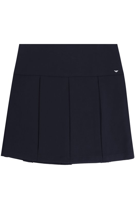 Купить Мини-юбка с защипами Armani Junior, 6Y3N01/3NDGZ/11A-16A, Китай, Темно-синий, Полиэстер: 63%; Эластан: 4%; Вискоза: 33%; Подкладка-полиэстер: 100%;