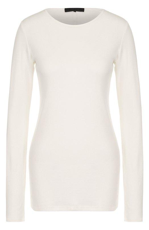 Купить Удлиненный хлопковый пуловер с круглым вырезом The Row, 3459K151, США, Бежевый, Хлопок: 100%;