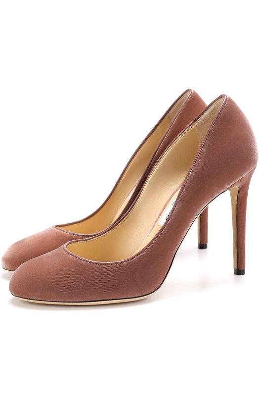 Бархатные туфли Bridget 100 на шпильке Jimmy Choo