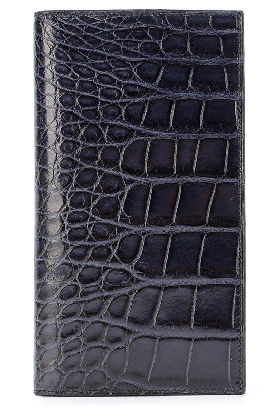 Портмоне из кожи аллигатора с отделениями для кредитных карт Brioni
