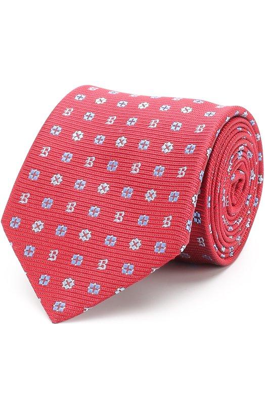 Купить Шелковый галстук с узором Brioni, 062I/0640H, Италия, Красный, Шелк: 100%;