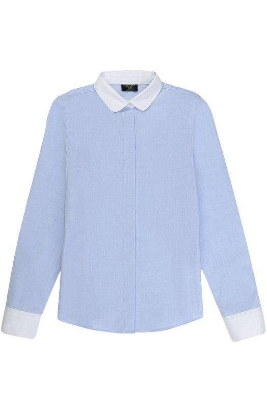 Купить Хлопковая блуза прямого кроя Dal Lago, R489B/7628/XS-L, Италия, Голубой, Хлопок: 100%;