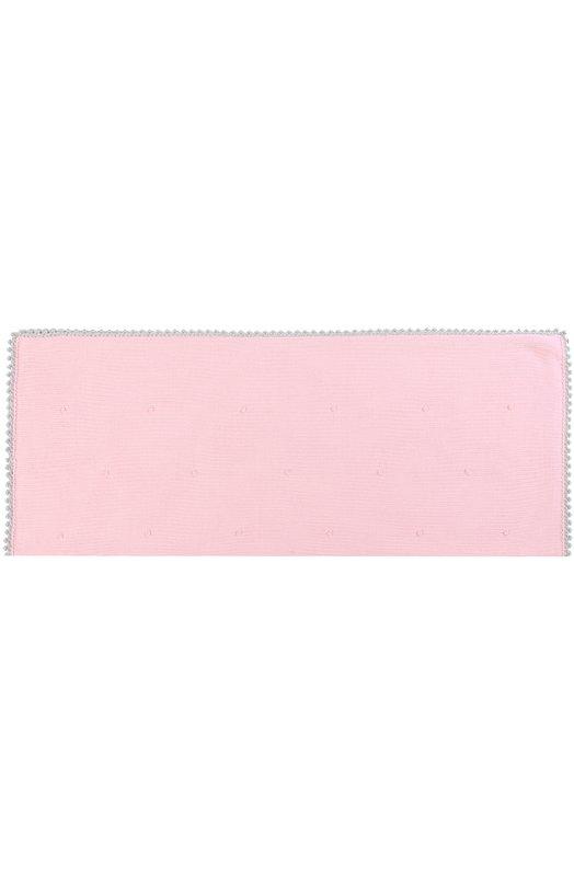 Купить Шерстяное одеяло с фактурной отделкой Baby T, 17AI112C0, Италия, Розовый, Шерсть меринос: 100%;