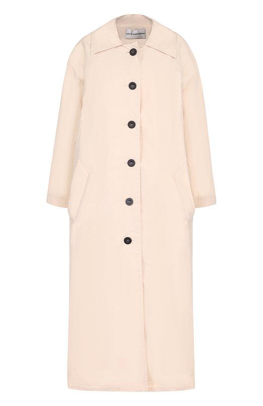 Купить Пальто свободного кроя с контрастными пуговицами Walk of Shame, CT005-PF17, Россия, Розовый, Хлопок: 100%;