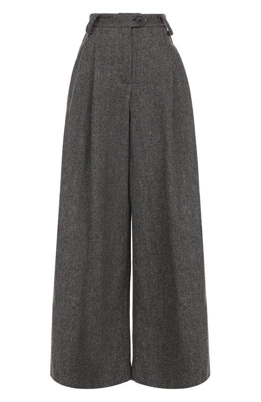 Купить Шерстяные широкие брюки с защипами Walk of Shame, P005/1-PF17, Россия, Серый, Шерсть: 100%;