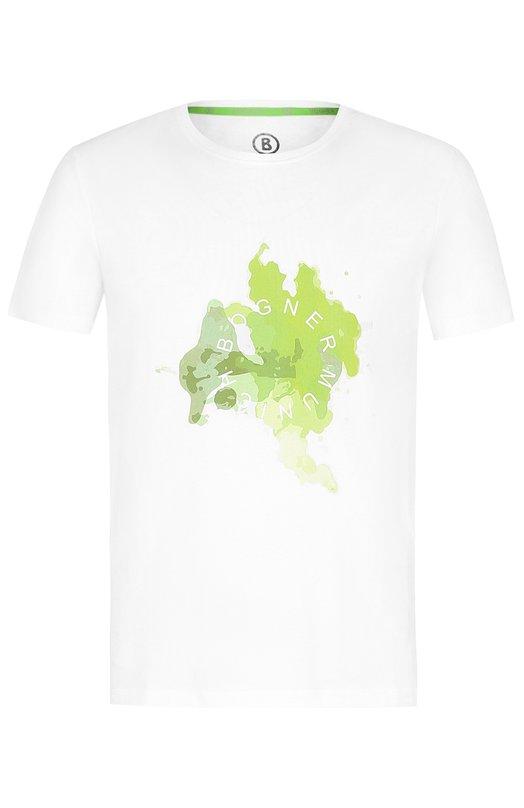 Хлопковая футболка с принтом Bogner, 5805MM03, Португалия, Белый, Хлопок: 100%;  - купить