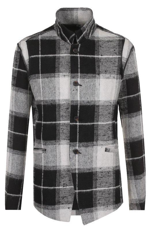 Купить Однобортный пиджак из смеси льна и шерсти с воротником-стойкой Lost&Found, M21.601.278, Италия, Серый, Подкладка-хлопок: 78%; Мохер: 7%; Лен: 58%; Полиамид: 5%; Шерсть: 30%; Подкладка-ацетат: 20%; Подкладка-эластан: 2%;