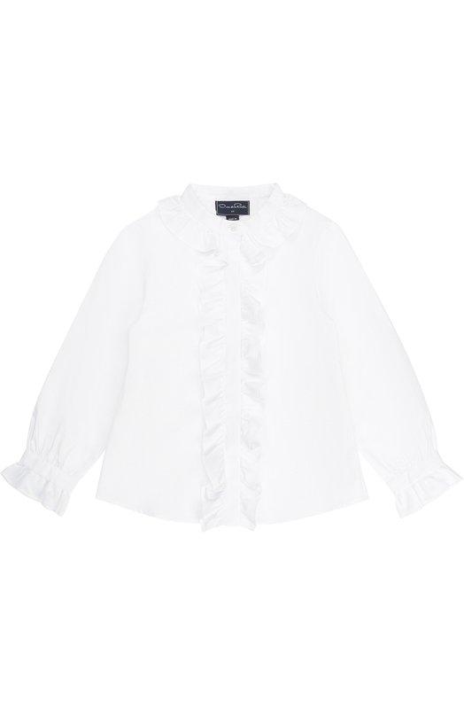 Купить Хлопковая блуза с оборками Oscar de la Renta Португалия 5011314 02C745
