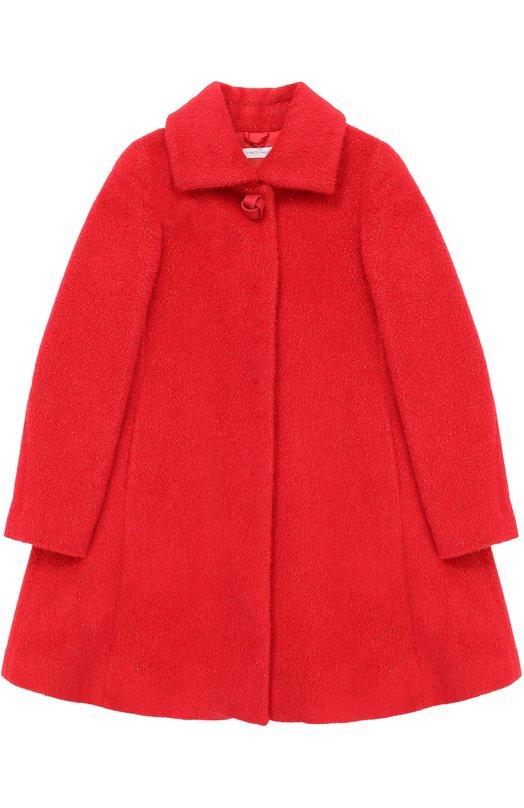Купить Шерстяное пальто свободного кроя I Pinco Pallino, 1702104012/07515/8-10, Италия, Красный, Шерсть: 65%; Металл: 5%; Шерсть овечья: 30%; Подкладка-вискоза: 100%;
