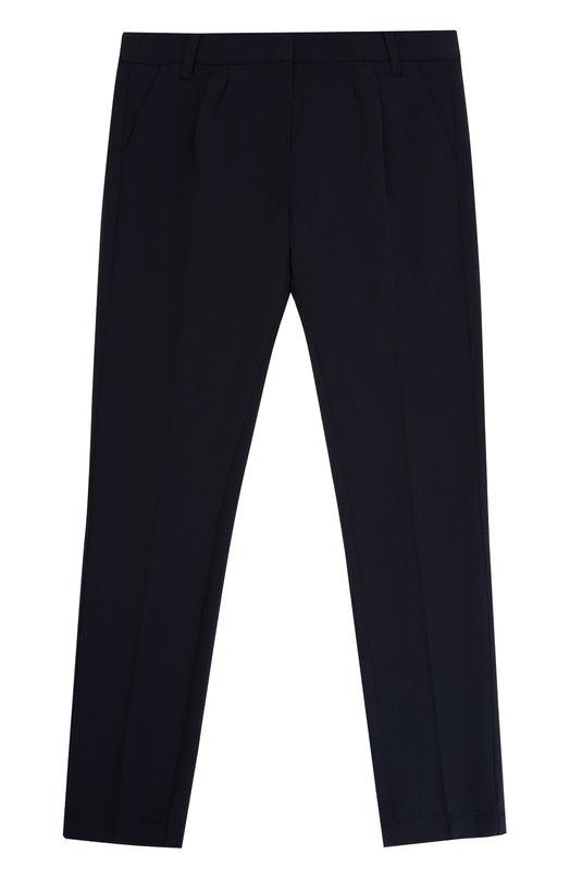 Классические брюки прямого кроя Armani Junior, 6Y3P05/3NDGZ/11A-16A, Китай, Темно-синий, Полиэстер: 63%; Эластан: 4%; Вискоза: 33%; Подкладка-полиэстер: 100%;  - купить