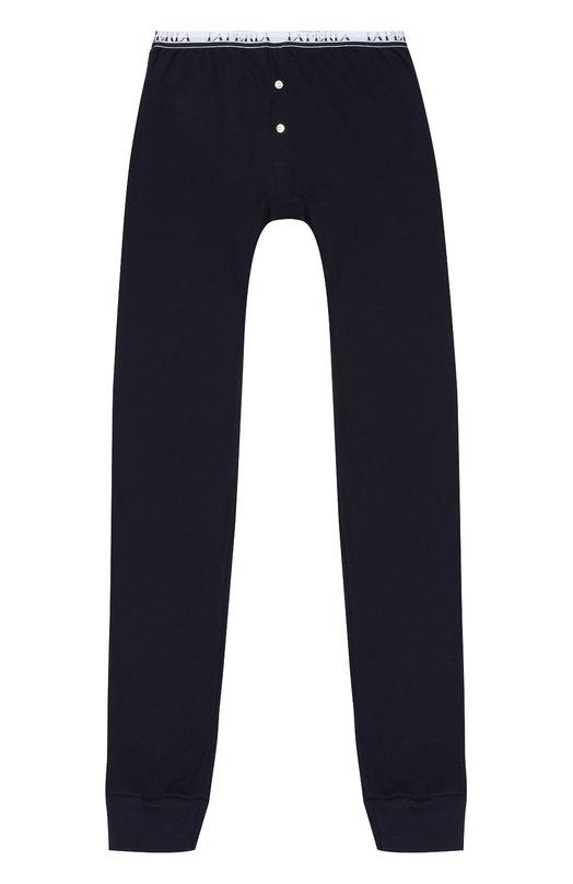 Купить Хлопковые брюки с эластичным поясом La Perla, 54428/10A-14A, Италия, Темно-синий, Хлопок: 100%;
