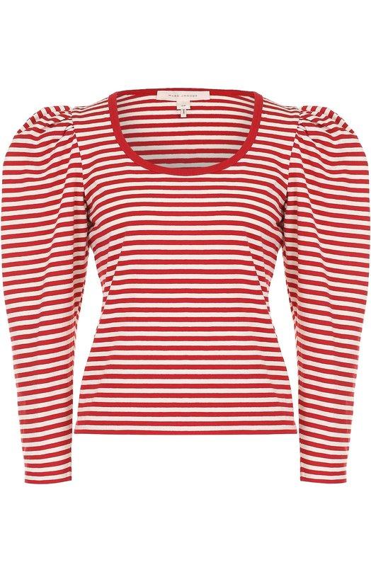 Купить Пуловер в полоску с рукавом-фонарик Marc Jacobs, M4006808, Китай, Красный, Хлопок: 100%;