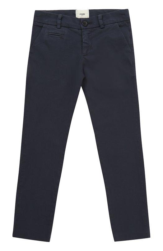 Купить Хлопковые брюки прямого кроя Fendi, JMF095/STB/2A-5A, Италия, Синий, Хлопок: 97%; Эластан: 3%;