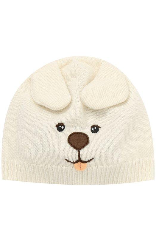 Купить Кашемировая шапка с вышивкой и декором Dolce & Gabbana, 0131/LN2H59/LK4G9, Италия, Белый, Кашемир: 100%;