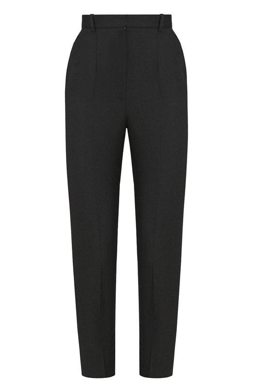 Купить Шерстяные укороченные брюки со стрелками Alexander McQueen, 460082/QJJ12, Италия, Черный, Шерсть: 100%;