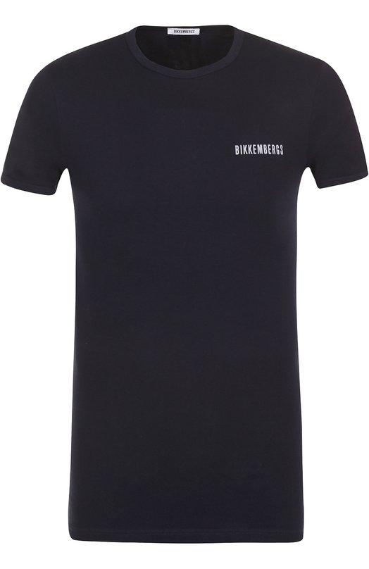 Купить Комплект из двух хлопковых футболок с круглым вырезом Dirk Bikkembergs, B41308T48, Тунис, Темно-синий, Хлопок: 94%; Эластан: 6%;