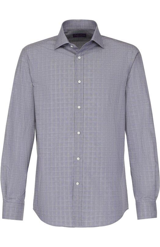 Купить Хлопковая рубашка с воротником кент Ralph Lauren, 791668878, Италия, Синий, Хлопок: 100%;