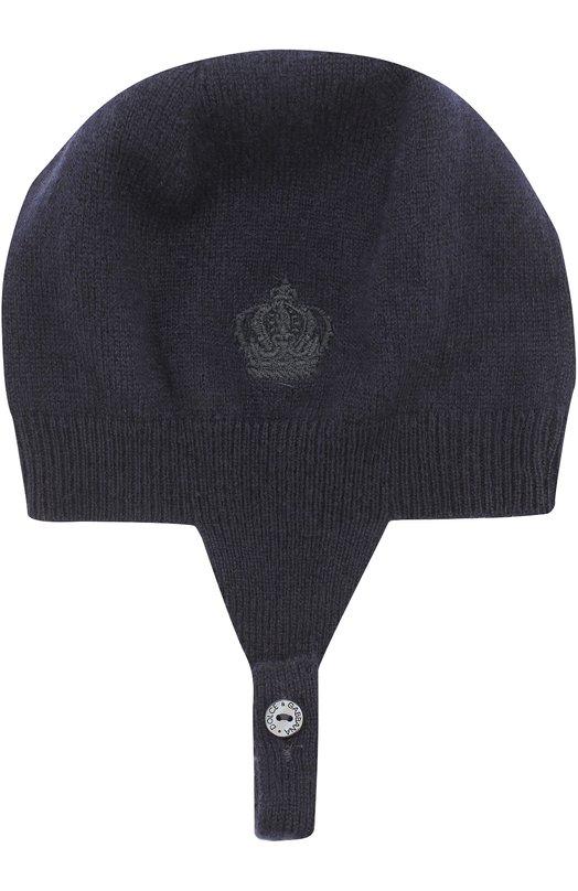 Купить Кашемировая шапка с вышивкой Dolce & Gabbana, 0131/LN2H64/LK4G6, Италия, Синий, Кашемир: 100%;