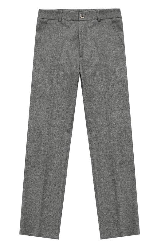 Купить Классические брюки прямого кроя Aletta, AM666291R/9A-16A, Италия, Темно-серый, Подкладка-ацетат: 60%; Шерсть: 50%; Подкладка-вискоза: 40%; Полиэстер: 34%; Вискоза: 15%; Эластан: 1%;