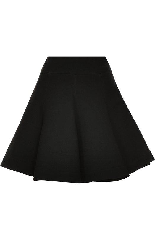 Шерстяная пышная мини-юбка Alaia