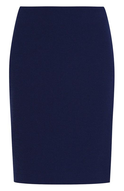 Шерстяная юбка-миди с разрезом Armani Collezioni