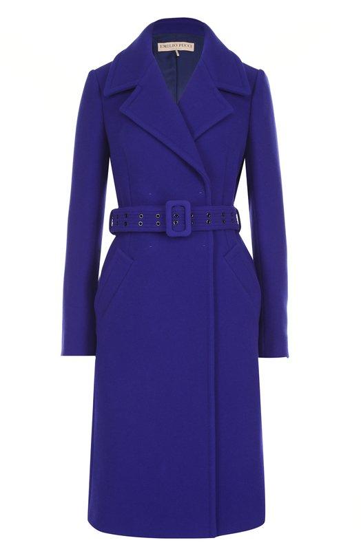 Шерстяное пальто с карманами и поясом Emilio Pucci Emilio Pucci
