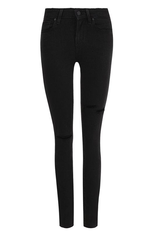 Купить Однотонные джинсы-скинни с потертостями Paige, 1394901-4716, США, Черный, Вискоза: 54%; Хлопок: 23%; Полиэстер: 22%; Эластан: 1%;