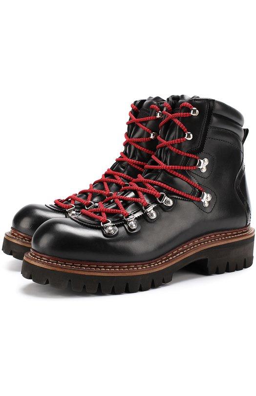 Купить Кожаные ботинки на контрастной шнуровке Dsquared2 Италия 5187612 W17LA102/291