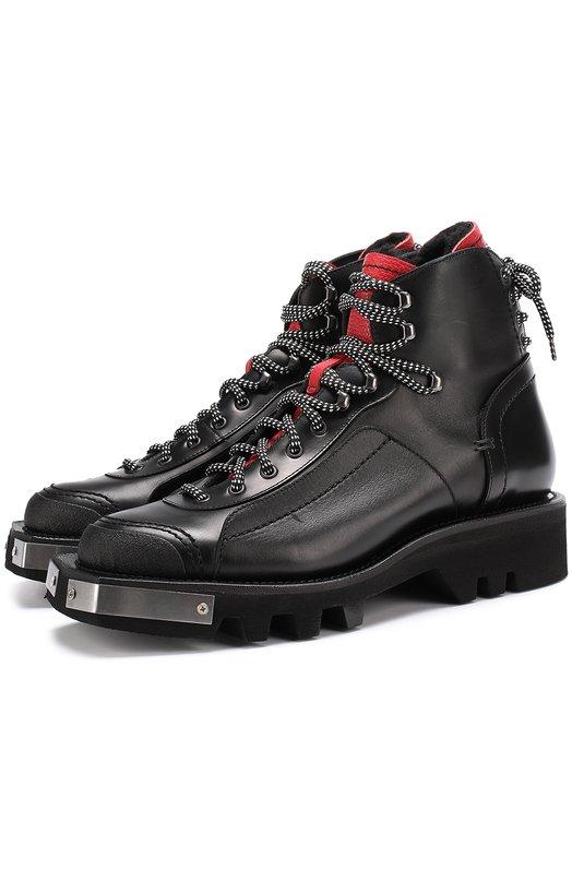 Купить Кожаные ботинки с металлической отделкой на шнуровке Dsquared2 Италия 5187657 W17LA411/1416