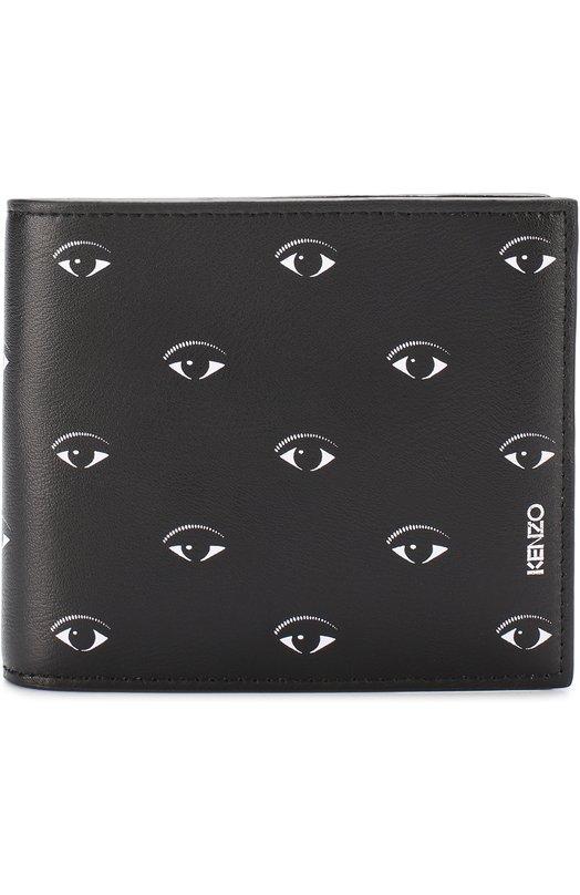 Кожаное портмоне с принтом с отделениями для кредитных карт Kenzo