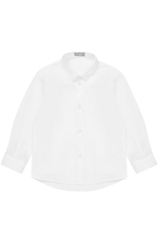 Купить Хлопковая рубашка прямого кроя Il Gufo, A17CL115C0031/2A-4A, Италия, Белый, Хлопок: 97%; Эластан: 3%;