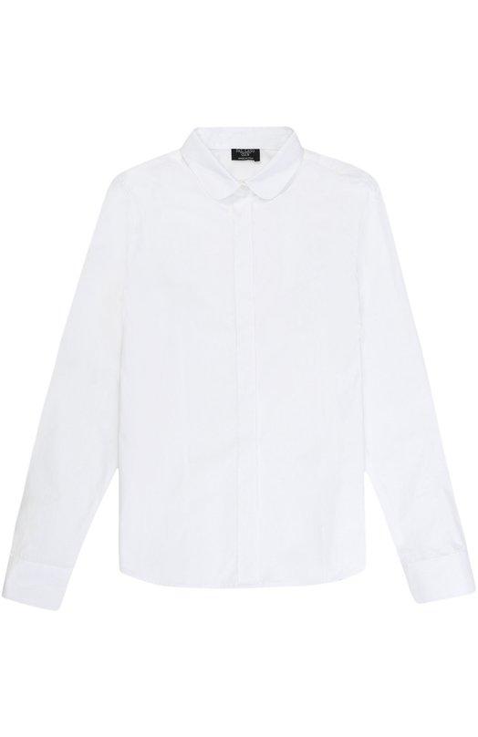 Купить Хлопковая блуза прямого кроя Dal Lago, R489/7628/XS-L, Италия, Белый, Хлопок: 100%;