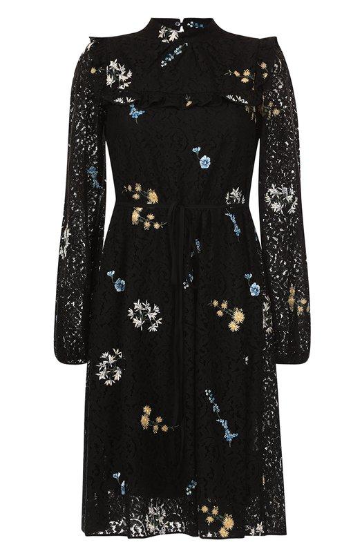 Купить Кружевное платье-миди с цветочной вышивкой No. 21 Италия 5189499 N2M/H231/4123