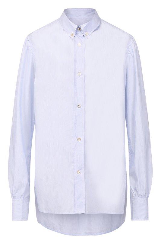 Купить Хлопковая блуза свободного кроя Isabel Marant, CH0220-17A021I/LILIANNE, Болгария, Голубой, Хлопок: 100%;